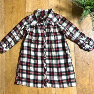 GAP 5 years plaid flannel Christmas dress